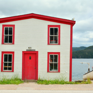 Angled house in Woody Point, NL by Picture Perfect Tours