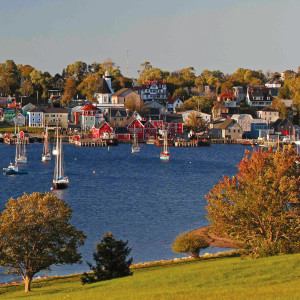 Lunenberg waterfront from across the harbour in beautiful Nova Scotia